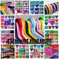 1, 3 or 5 metres High Quality Soft 15mm PREMIUM FOLD OVER ELASTIC 63 COLOURS