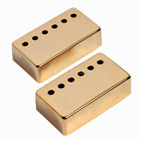 2 Pcs Metal Guitar Humbucker Pickup Covers Set Guitar Parts Gold
