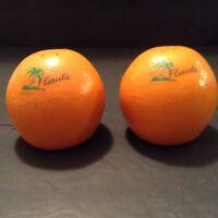 Vintage Retro Ceramic Oranges Salt & Pepper Shakers