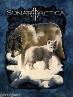 SONATA ARCTICA cd lgo Wolves WOLF TYE DYE BLUE Official SHIRT LAST XL New oop