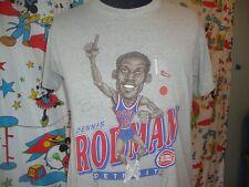 Vintage Detroit Pistons Dennis Rodman Caricature Cartoon NBA T shirt XL