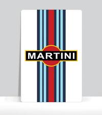 """Martini Racing Logo Sign. Art Print on Aluminum Poster 18""""x 24"""""""