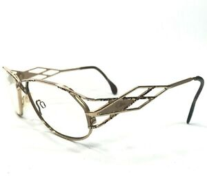Cazal Sunglasses Glasses Frames Gold Speckled Geometric Unique Webbed Unique 80s