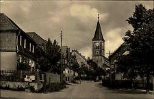 Plothe DDR AK 1960 Dorfstrasse Kirche Landpost-Stempel Plothen über Schleiz gel.