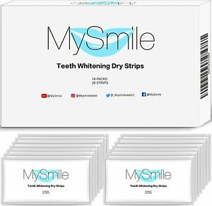 MySmile Teeth Whitening Strips NonSensitive Tooth Whitener Stains Remove 28Count