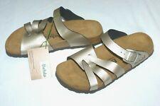 NEW Betula By Birkenstock Ladies Gold Mules Sandals size UK 5 EU 38