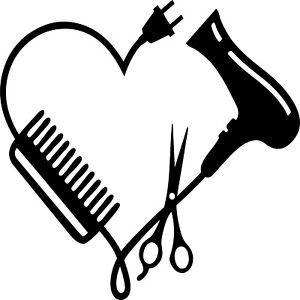 Hairdresser Stylist Salon Heart Vinyl Decal Sticker for Car/Window/Wall