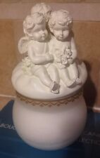 Avon Collectible Cherub Candle Jar New In Original Box