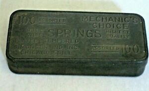 Vintage Mechanic's Choice Assorted Springs Tin Box Filled with Metal Springs