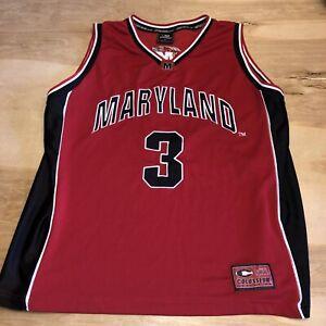 Vintage Maryland Terrapins #3 Colosseum SEWN Basketball Jersey XL NCAA