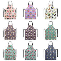 Floral Animal Pet Dog Design Funny Apron for Women Chef Cooking BBQ with Pocket