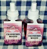 NEW 2-Pack CRANBERRY WOODS Wallflower Refill Bulb 0.8 fl oz Bath & Body Works