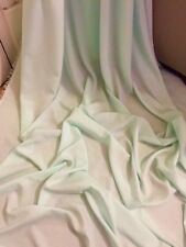 "25 MTR ROLL OF MINT GREEN 100% POLYESTER LINING FABRIC...45"" WIDE £40"