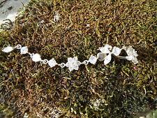 Piercing nombril titanium argent 925 décor fleurs en strass