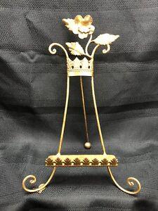 "11"" Antique Vintage Brass Victorian Picture Frame Holder / Recipe Book Holder"