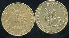 FRANCE 10 francs 1988  ROLAND  GARROS  ( face A )  ( ca )
