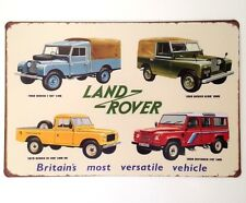 RETRO METAL WALL SIGN TIN PLAQUE VINTAGE LAND ROVER DEFENDER GARAGE SHED 90 110