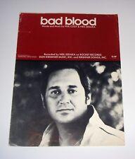 Original 1975 Neil Sedaka Bad Blood 6 Page Sheet Music Free Ship