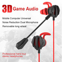 Gaming Headset Earbuds Stereo Earphone Headphone With Mic For PS4/ Xbox One/ PC
