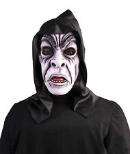 Hooded Zombie Ghoul Mask, Halloween Fancy Dress Party Costume Accessory #AU