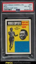 1970 Anglo Confectionery World Cup Soccer Pele #38 PSA 4.5 VGEX+