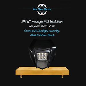 2014 - 2016 BLACK KTM LED HEADLIGHT SUPER BRIGHT ACERBIS TPI EXC LIGHT