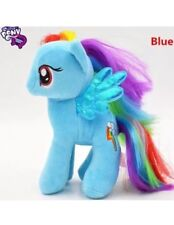 "8"" Plush Rainbow Dash Blue My Little Pony Rarity Horse Stuffed Animal Toy Game"
