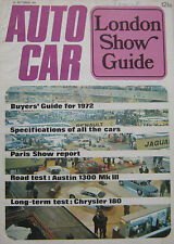 Autocar magazine 14/10/1971 featuring Lotus Europa Twin Cam, Austin road test