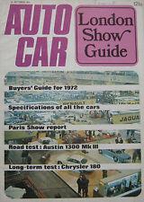 Autocar magazine 14/10/1971 featuring Lotus Europa Twin Cam, Austin road test