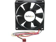 StarTech.com 80x25mm Dual Ball Bearing Computer Case Fan with TX3 Connector - Bl