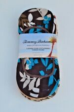 TOMMY BAHAMA Women's 3 pairs invisible Low-Cut liners Brown Socks NEW NWT