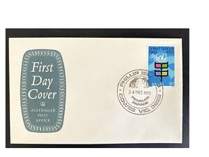 Aust. Stamps -Commemorative Cover - 1970 Phillip Island Penguin Parade on Shield