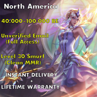 League of Legends NA Account LOL NA 40-100k BE Account Unranked Unverified