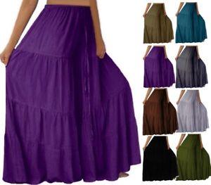 Fashion Bohemian Ruffle Pant - Gauchos Crinkle Rayon - LotusTraders Design S222