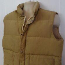 Vintage 60s 70s Woods Goose Down Outerwear Winter Puffer Vest Blue Size M