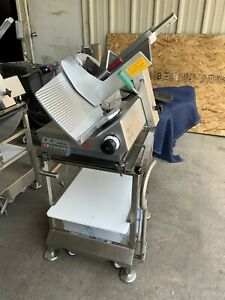 2019 Bizerba automatic manual slicer GSP HD w/ Deli Buddy Mobile Stainless Cart