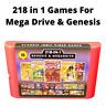 218 in 1 Video Game Cartridge For Sega Genesis & Mega Drive Multi Cart 16-Bit