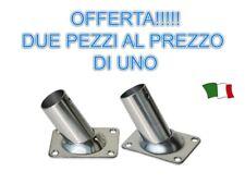 SUPER OFFERTA !! COPPIA DI BASI  INCLINATE A 60° IN ACCIAIO INOX AISI 316