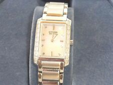 Citizen  EX1130-50D Eco-Drive Ladies Palidoro Diamond  Watch  Not Working  AS IS