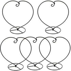OwnMy Pack of 5 Heart Shaped Ornament Display Stand Holder Iron Hanging Rack for