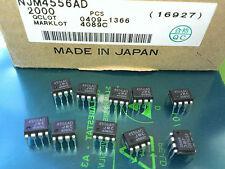 2 Stück NJM4556AD (JRC4556AD) JRC DUAL High Current OP AMP case DIP8 (M4690)