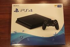 New Sealed Sony PlayStation 4 PS4 Slim 1TB HDR Jet Black Console Gaming System