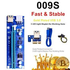 More details for ver 009s pcie riser, 3 in 1 1x to 16x pcie riser board with led light, 60 cm usb