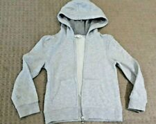 Milkshake (Myer Brand) Silver Grey Girls Tracksuit Hood Jacket Size 7 EUC Winter