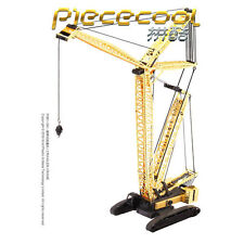 Piececool 3D Metal Puzzle Crawler Crane DIY Laser Cut Toys Metal Carft