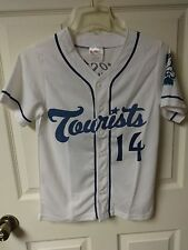 Vintage MiLB Asheville Tourists SGA Button Front Baseball Jersey Youth M Rockies