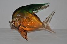 "MURANO LARGE GREEN & ORANGE FISH LENGTH APPROX 11"" HEIGHT APPROX 7 1/2"""