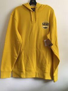 New Mens VANS Skater Long Sleeve Hoodie Pullover Sweatshirt Gold Size Large