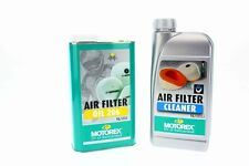 Motorex AIR Filter Cleaner 1L Luftfilterreiniger + Motorex Air Filter Oil 206 1L