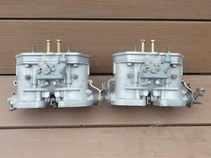 Vintage Weber 48 IDF Carburetors Pair Made in Italy 48IDF Carbs Italian AWESOME!